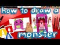 How To Draw A Scary Cute Monster (Folding Surprise)