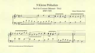 Bach, Menuet Trio in G minor, BWV 929, Piano