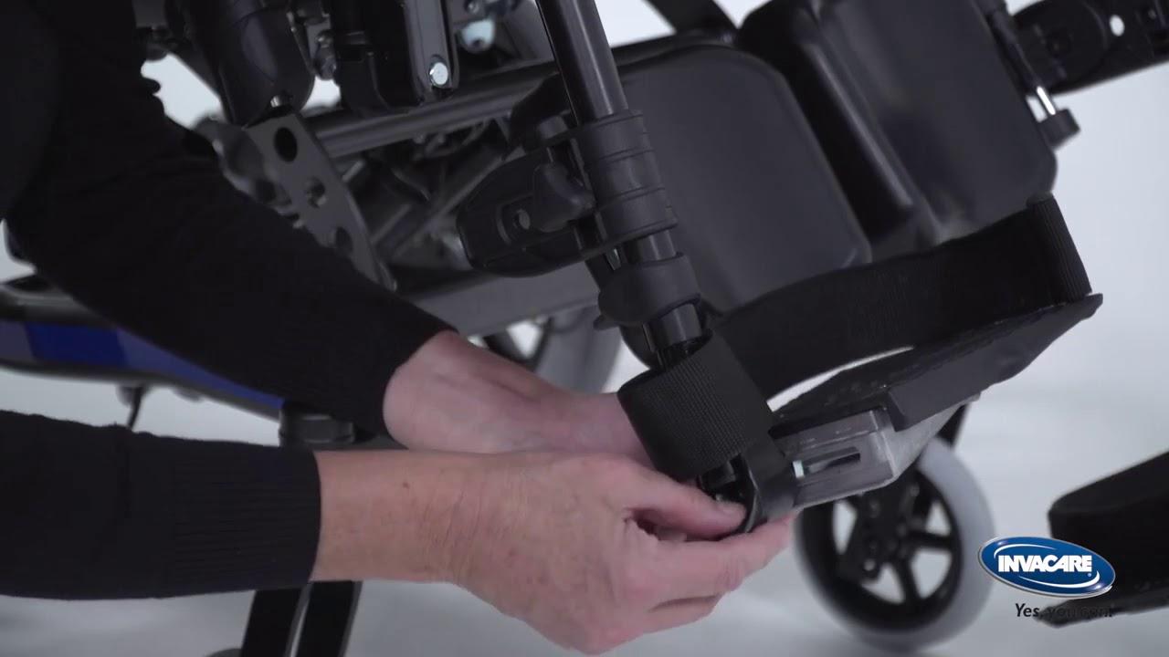Comfort-pyörätuolin jalkatukien säätö
