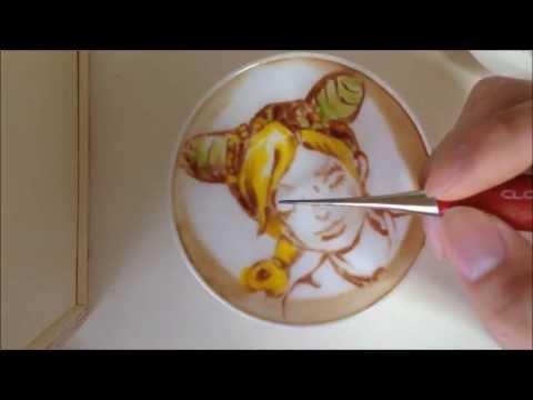 世界第一的拉花神手,在咖啡上畫彩色漫畫!!