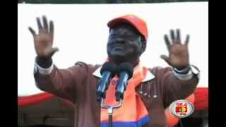 Raila takes campaign trail to Western region