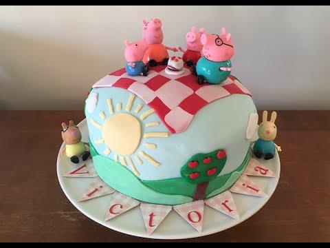 DIY - Bolo de aniversário da V - Peppa Pig - Pasta Americana PART II