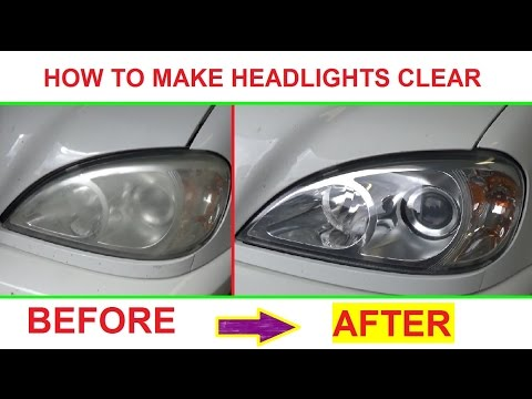How to make headlight clear and shiny like new! Demonstrated on Mercedes W163 ML320