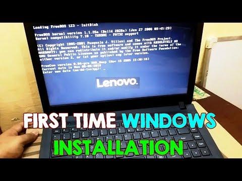 , title : 'Install Windows on Lenovo FreeDos NO OS Laptops, BIOS Setup (First Time Installation) Ideapad 100'
