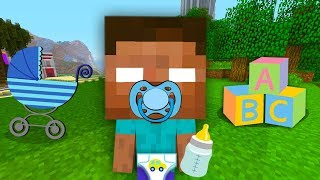 BABY MINECRAFT - STEVE AND ALEX MEET BABY HEROBRINE !•️