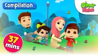 Video Omar & Hana | Inshaallah, Everything Belongs to Allah & More | Islamic Nursery Rhymes MP3, 3GP, MP4, WEBM, AVI, FLV Juli 2019