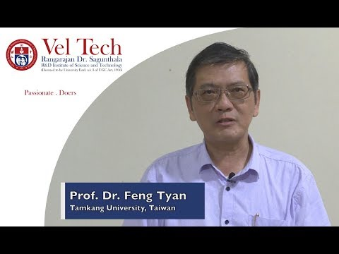 Short Course on  State Estimation by Prof. Dr. Feng Tyan,Tamkang University at Vel Tech