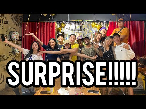 Surprise Birthday Party for Tom D | Jackie Gonzaga
