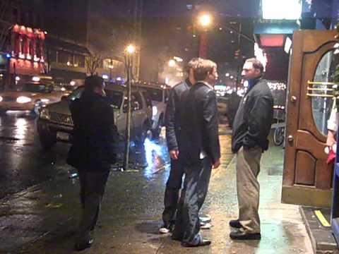 Drunk Kid tests bouncer - Midtown East, NYC