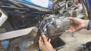 10. Yamaha TTR110 Manual Clutch Install - SemiManual