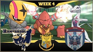 WHEN VOLCANOS ERUPT!! St. Louis Rampardos vs Boston Beedrills    APA Week 4   Pokemon USUM by aDrive