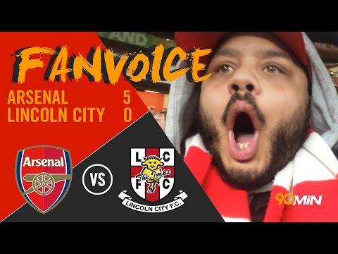 Sanchez scores a screamer against Lincoln City, Arsenal 5-0 Lincoln City   90min FanVoice