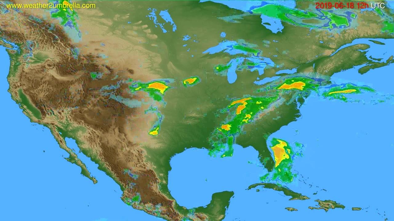 Radar forecast USA & Canada // modelrun: 00h UTC 2019-06-18