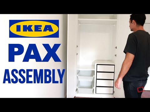 IKEA PAX Wardrobe Assembly - IKEA PAX Closet With Doors and Soft Closing Hinges