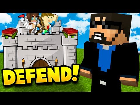 MY WIFE AND SON DEFEND THE CASTLE IN MINECRAFT BED WARS!! (видео)