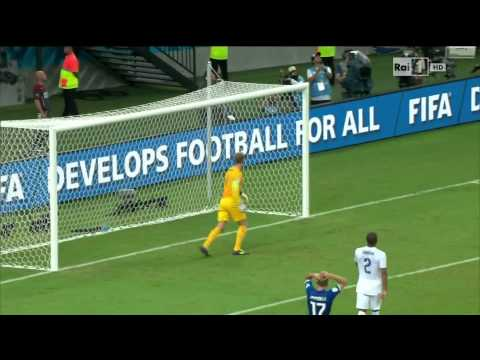 Joe Hart Calls For The Ball After Free Kick – England vs Italy – World Cup 2014
