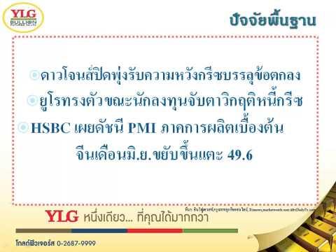 YLG บทวิเคราะห์ราคาทองคำประจำวัน 23-06-15