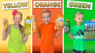 Eating Only ONE Color of Food for 24 Hours!!!