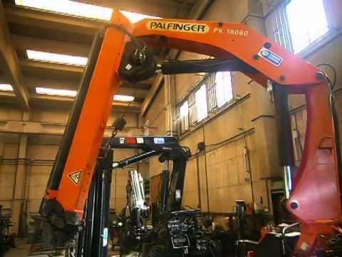 Grúa ocasión - Used crane PALFINGER PK18080 S-140444 (www.transgruas.com)