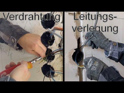 Kabel / Leitungen verlegen und verdrahten - Rohbau-Elektroinstallation Teil 4