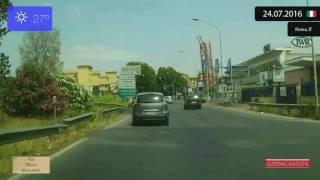 Fiumicino Italy  city photos : Driving through Roma (Italy) from Aeroporto di Fiumicino to Trastevere 24.07.2016 Timelapse x4