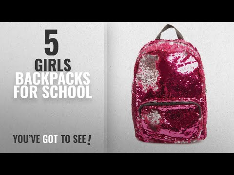 Girls Backpacks For School [2018 Best Sellers]: Style.Labs Magic Sequin Backpack, Pink/Silver