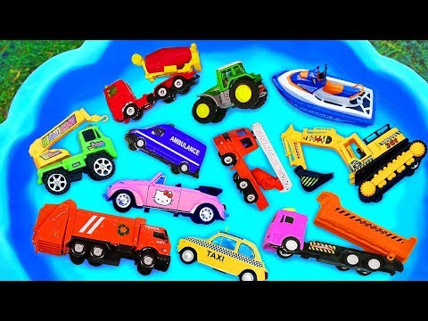 Cars for kids, Toys review and learning name and sounds Construction vehicles, Excavator toy