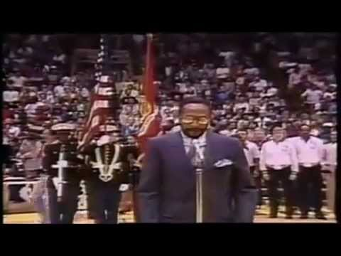 Marvin Gaye Sings The United States National Anthem At The 1983 NBA Allstar Game