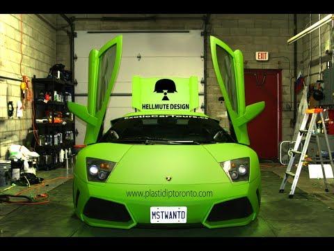 Plasti Dip Lamborghini Murcielago Nhìn mà kích thích ghê <3