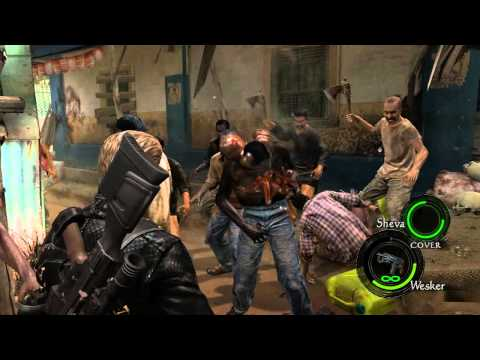 Resident Evil 5 PC - Town Majini's Ultimate Transformation