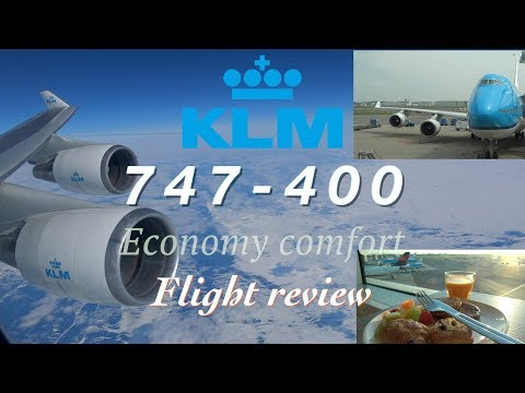 FULL FLIGHT REVIEW: KLM 747-400 [economy comfort] flight review Schiphol AMS to Toronto YYZ