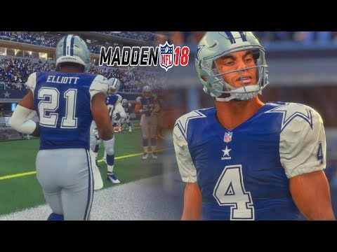 Madden 18 Gameplay Full Game - DALLAS COWBOYS vs GREEN BAY PACKERS!