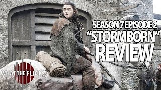 "Daenerys receives an unexpected visitor; Jon faces a revolt; Tyrion plans the conquest of Westeros. Ben Mankiewicz, John Iadarola, Cenk Uygur, and Matt Atchity discuss Game of Thrones Season 7 Episode 2 ""Stormborn"". Watch more reviews here: https://www.youtube.com/whattheflickshowWatch more WTF Game of Thrones reviews here: https://www.youtube.com/playlist?list=PLm4XLke0iGpuOQdG4V0k625NlpIXQ-JSD"