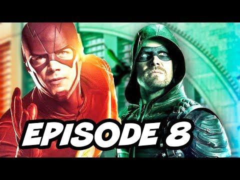 The Flash Season 3 Episode 8 - Arrow Supergirl Legends Crossover Part 2