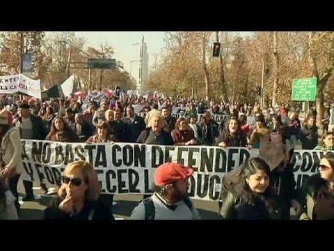 Επεισόδια σε φοιτητική διαδήλωση στο Σαντιάγο