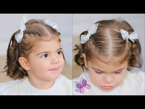 Hairstyle For Baby (Toddler Under 2 Years Old)  | Hairstyle For Short Hair | Baptism Hairstyle