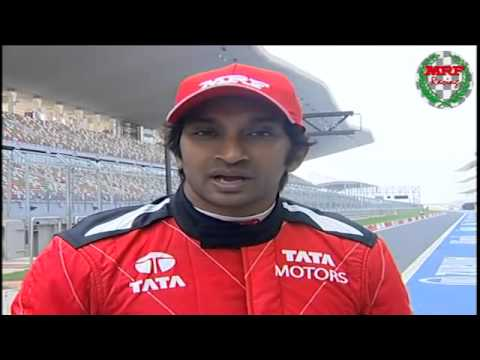 Narain's interview during the MRF Formula 2000 test drive