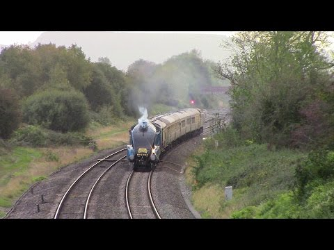 LNER A4 4464 Bittern with 'The Western Streak' heads to T...