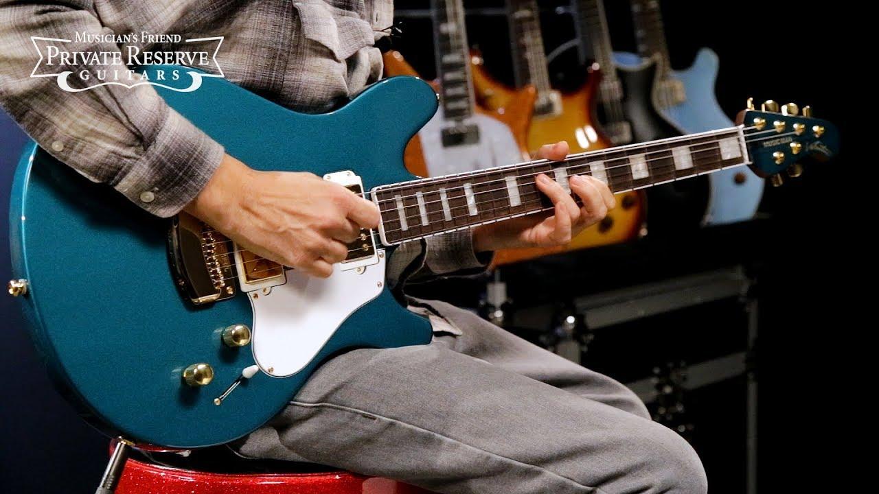Ernie Ball Music Man BFR Pine Green Valentine Electric Guitar