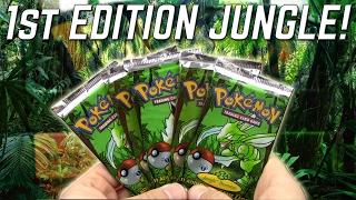 OPENING 1ST EDITION JUNGLE PACKS OF POKEMON CARDS!! by The Pokémon Evolutionaries