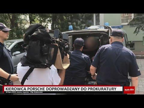 Wideo1: Doprowadzenie kierowcy porsche do prokuratury