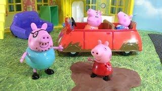 Peppa Pig Muddy Puddle Car  Toys Video Parody