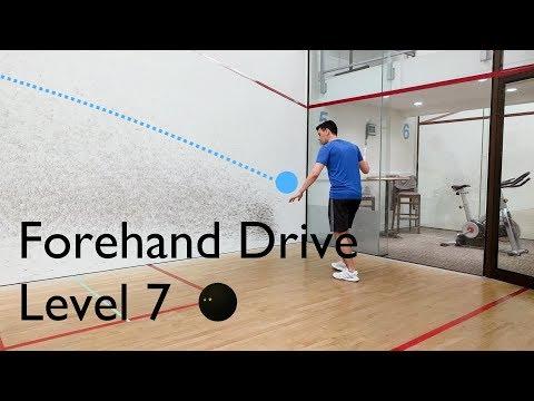 Squash - Forehand Drive - Level 7