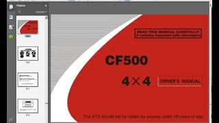 9. GOES-CFmoto 500 - Service Manual - Owners Manual