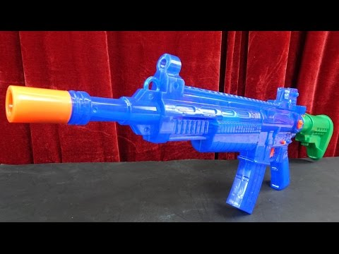 M16 ELEKTRISCHE WASSERPISTOLE SUPER SOAKER - Besser als die Ak47 ???