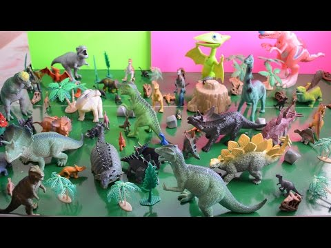 dinosaur - These are all of our dinosaur toys, including King Cryolophosaurus, Buddy T-Rex, Tiny Pteranodon, all from Dinosaur Train and lots of other triceratops, pter...