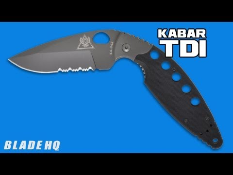 "Ka-Bar TDI Sidelock Liner Lock Knife (3.5"" Serr) 02-2483"