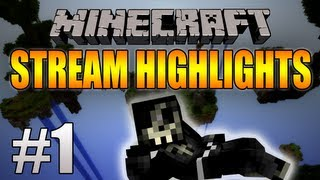 "Minecraft: Stream Highlights #1 - ""Sky Wars"" | Funny Moments/Fails/Wins (AciDic BliTzz)"