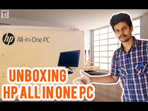 HP all in one PC | HP AIO 20-C102IL CELERON J3060 unboxing brief explained