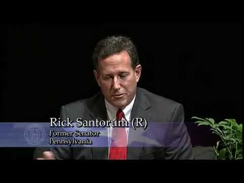 Rick Santorum - Recorded on 10/18/12 - Captured Live on Ustream at http://www.ustream.tv/channel/Young-Americas-Foundation Debate: The Role of Government in a Free Society S...